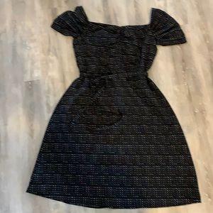 NWT banana republic black with polka dot dress